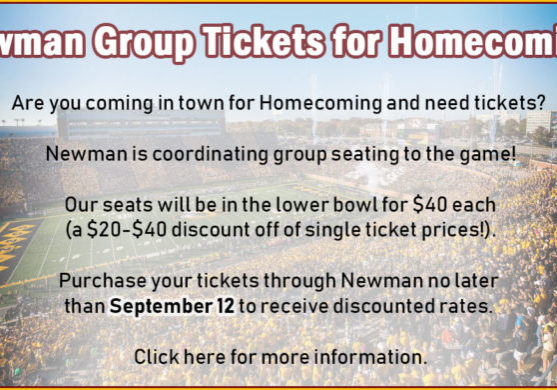 newman-group-tickets-for-homecoming-september-12